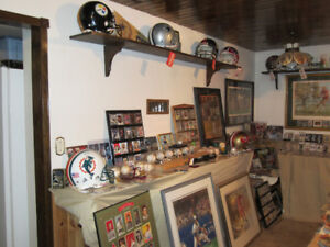 Selling 40 yr sports memorabilia and sport card collection.