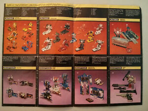 1984 Transformers checklist insert $10