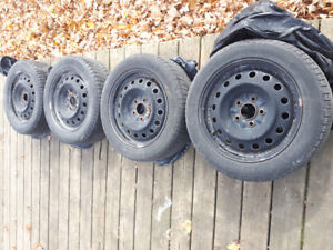 Mazda 3 winter tires and rims (used only 2 seasons)