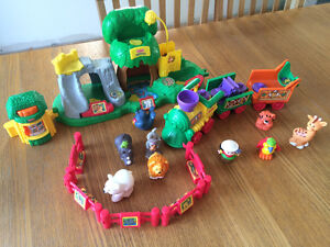 Little people zoo and circus train