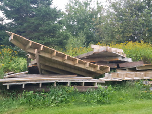 Old deck wood for free
