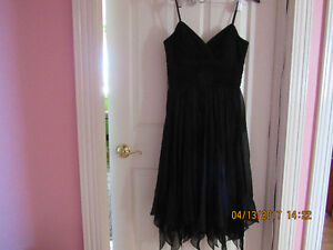 NEW Real Silk cocktail black dress size 8