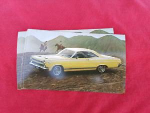 1966 MERCURY CYCLONE GT NOS Dealer Promo Postcard
