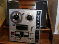 Sony tc630 reel to reel recorder with TAPE DELAY!!