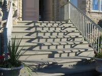 Construction marches, escalier Béton