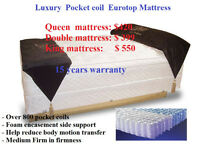 ►►Super Value Sale-Queen EURO TOP pocket coil mattress and box