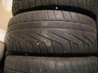 215/55R16 Pirelli Sottozero Winter 210 tires on steal rims.