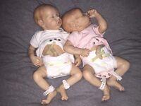 Bonnie brown reborn twins A & B