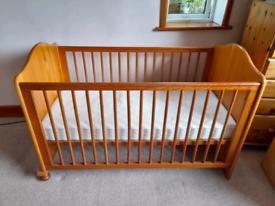 Babies/Childrens's Vintage Mama and Papas Cot Bed Antique Pine