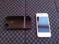 (Unlocked) White iPhone 4S mint condition W/ Speck case