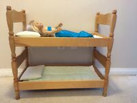 Heirloom quality doll bed