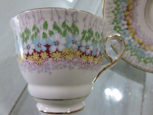 Glendale - Royal Stafford bone china tea cup and saucer