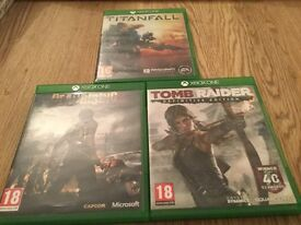 Xbox one Games mint condition