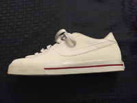 Pair of NEW Nike low tops. White and Burgundy Size 10.5