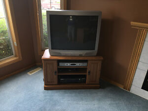 TV in excellent  shape with TV stand