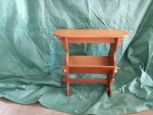 Antique hand made magazine rack / end table