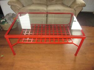 XL Metal and Glass Coffee Table Cambridge Kitchener Area image 1