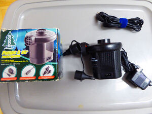 Woods rechargeable air pump, for air bed or other inflatables
