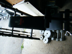 Weider Weight Bench and Weights