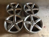 Genuine audi 18 inch alloys 5 x 112 very good condition £225 ono perfect christmas present