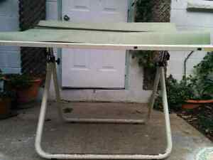 Vintage Drafting Table and Rule
