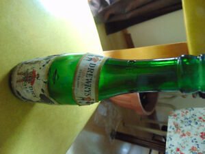 DREWRY;S DRY GINGERALE BOTTLES WITH ORIGINAL LABELS INTACT