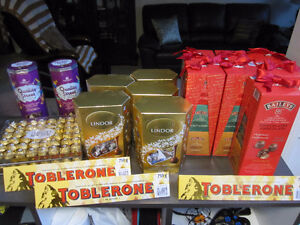 Chocolates, Assorted Name Brands, New in Sealed Packages