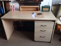 Large, sturdy desk and drawers