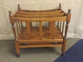Reproduction Canterbury wooden magazine rack
