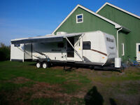 Bunkhouse 31 foot camper private sale 3 slides kid friendly