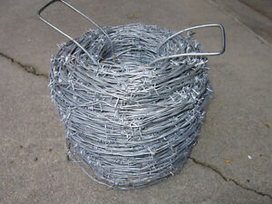 BARBED  WIRE  ---   ROLL  OF  BARBED  WIRE
