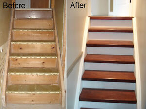 Upgrade an existing staircase with easy to install stairs parts