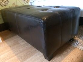 Faux leather coffee table / foot stool / seat