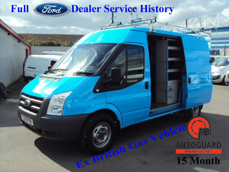2010 FORD TRANSIT2.2TDCi DURATORQ 115PS T330M BLUE DIESEL MED ROOF MWB