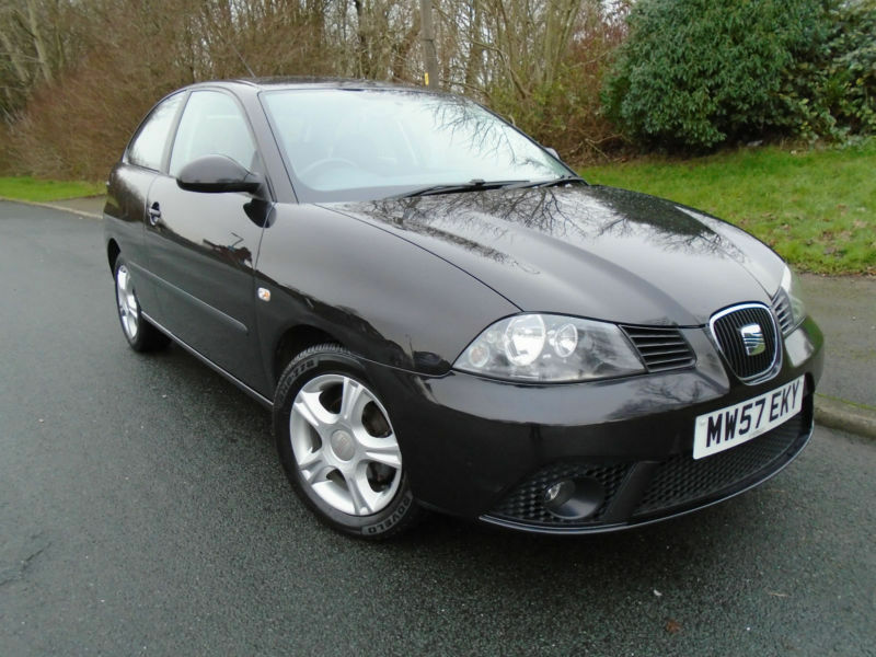 2007 57 seat ibiza 1 2 12v reference 3 door in black petrol hatchback in ribbleton lancashire. Black Bedroom Furniture Sets. Home Design Ideas