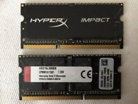 Kingston Hyper X Impact DDR3 16gb (2x8gb) Laptop RAM