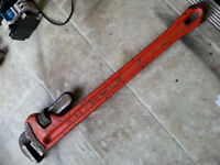 "Rigid 24"" pipe wrench"