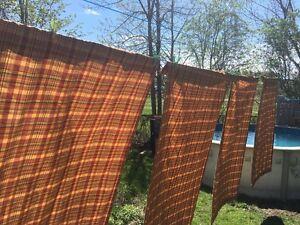 4 panneaux de rideaux