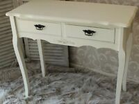 Beautiful Hall Table ,in Ivory/Cream.