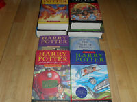 8 HARRY POTTER Books - ages 10 - Adult