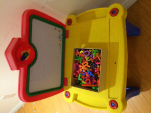 Activity table with white board
