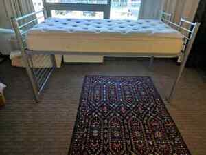 Capitans bed size - single. Frame and mattress