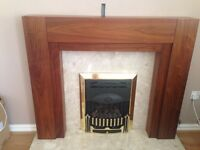 Wooden fire surround and back plate only