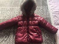 Girls winter coat age 3