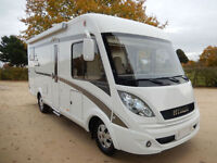 Hymer B514 4 berth rear fixed bed LHD motorhome for sale