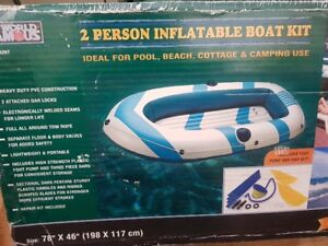 2 Person Inflatable Boat w/ Paddles