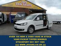 2014 14 VOLKSWAGEN CADDY 1.6 C20 TDI HIGHLINE 1D 102 BHP IN PURE WHITE DIESEL