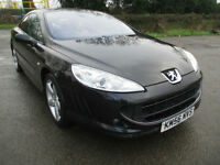 56 PEUGEOT 407 3.0 V6 AUTO SE COUPE FULL LEATHER LOW 52K ONE OWNER FULL MOT BEAUTIFUL CAR PX SWAPS