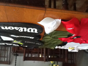 Tennis Racket Bags, Rogers shirts and hats