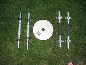 "1"" Barbells, Curl Bars, Triceps Bars and Dumbbell Handles"